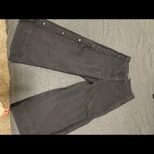 Black denim flare pants